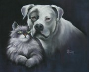 Portrait Pastels Prints - Apu and Ted Print by Cynthia House