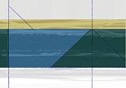 Aqua Green Triangles Print by Irina  March
