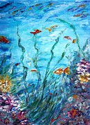 Tropical Fish - Aqua  by Mary Sedici