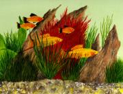 Tropical Fish Paintings - Aquarium Fish by Michael Vigliotti
