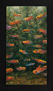 Tropical Fish Paintings - Aquarium by James W Johnson