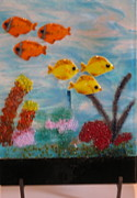 Fish Glass Art Originals - Aquarium by Lisa Kohn