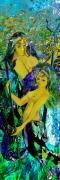 Constellation Mixed Media - Aquarius and Undine by Anne Weirich
