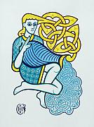 Celtic Knotwork Prints - Aquarius Print by Ian Herriott