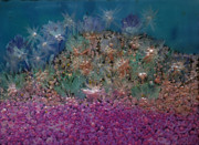 Fish On A Reef Paintings - Aquarius Painting by Don  Wright