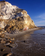 Marthas Vineyard Framed Prints - Aquinnah Cliffs Marthas Vineyard Framed Print by John Burk