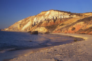 Marthas Vineyard Posters - Aquinnah Gay Head Cliffs Poster by John Burk