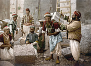Fez Prints - ARAB STONEMASONS, c1900 Print by Granger