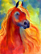 Custom Animal Portrait Posters - Arabian horse 5 painting Poster by Svetlana Novikova