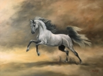 Gray Paintings - Arabian by Jeanne Newton Schoborg