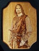 Fantasy Pyrography - Aragorn of Lord of the Rings by Bob Renaud