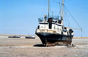 Desertification Posters - Aral Sea Boats Stranded By Drought Poster by Ria Novosti