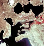 Desertification Posters - Aral Sea, Satellite Image, 2000 Poster by Nasa