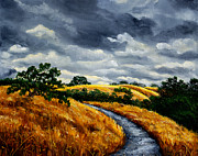 Laura Milnor Iverson Painting Originals - Arastradero Trail in Early Autumn by Laura Iverson