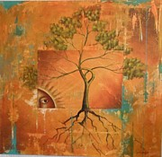 Sun Rays Mixed Media - Arbol de la Vida by Santiago Polvos