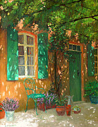 Green Door Prints - Arbour Print by William Ireland