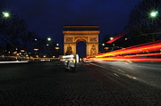 John Williams Metal Prints - Arc D Triomphe By Night 1 Metal Print by John Williams