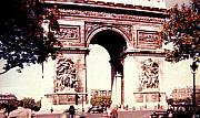 Vintage Paris Posters - Arc de Triomphe 1955 Poster by Will Borden