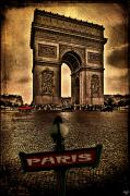 Paris Digital Art Framed Prints - Arc de Triomphe Framed Print by Chris Lord