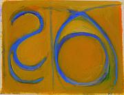 Yellow Ochre Pastels Posters - Arc Drawing 14 Poster by Ruth Sharton