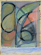 Curves Pastels - Arc Drawing 21 by Ruth Sharton