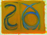 Yellow Ochre Pastels Posters - Arc Drawing 6 Poster by Ruth Sharton