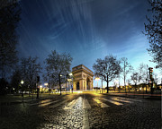 Dusk Prints - Arc Of Triumph Print by Pascal Laverdiere