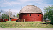 Arcadia Photo Prints - Arcadia Round Barn Print by Denise Keegan Frawley