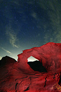 Clouds Of Fire Prints - Arch and Stars Print by Rick Berk