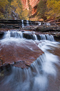 Landscape Photo Posters - Arch Angel Falls Poster by Joseph Rossbach