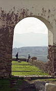 On-the-look-out Framed Prints - Arch at Chincero Framed Print by Darcy Michaelchuk