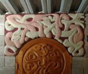 Carved Reliefs Originals - Arch at Hex Hall by Ralph Turner