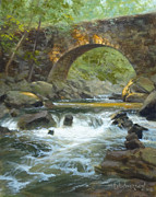 Falls Paintings - Arch Bridge by David Henderson