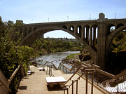 Bridge Photography Prints - Arch Monroe Street Bridge Spokane River Print by Ann Powell