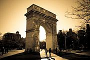 Central Park Posters - Arch of Washington Poster by Joshua Francia
