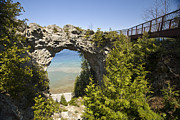 Natural World Framed Prints - Arch Rock On Mackinac Island, Michigan Framed Print by Richard Nowitz