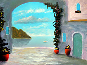 Tuscany Prints - Arch To The Sea Print by Larry Cirigliano