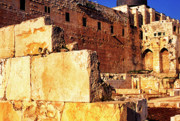 Homeland Posters - Archaeological Garden Southern Temple Mount Jerusalem Poster by Thomas R Fletcher