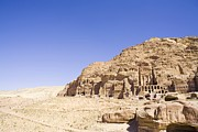 Jordan Photos - Archaeological Remains Of Petra  Unesco World Heritage Site Jordan, Middle East by Gallo Images