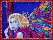Night Angel Paintings - Archangel Ariel by Lori Miller