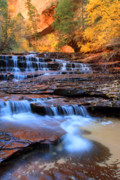 Zion National Park Photos - Archangel fall in Zion national park by Pierre Leclerc