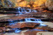 Archangel Falls In Zion National Park Print by Pierre Leclerc Photography
