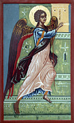 Orthodox Painting Framed Prints - Archangel Gabriel Framed Print by Anton Dimitrov