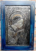 Metal Reliefs - Archangel Gabriel by Cacaio Tavares