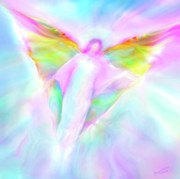Archangel Prints - Archangel Gabriel in Flight Print by Glenyss Bourne