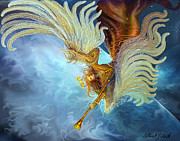 Oracle Paintings - Archangel Gabriel by Steve Roberts
