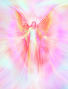 Healing Angel Prints - Archangel Metatron Reaching Out in Compassion Print by Glenyss Bourne