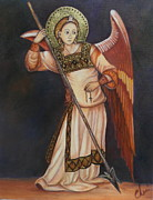 Iconic Paintings - Archangel Michael by Cheri Stripling