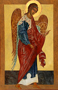 Icons Painting Originals - Archangel Michael by Christine Hales