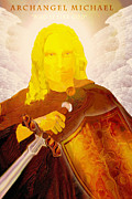 Spiritual Paintings - Archangel Michael by Valerie Anne Kelly